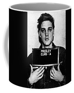 Elvis Presley Mug Shot Vertical 1 Coffee Mug by Tony Rubino