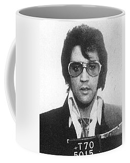 Elvis Presley Mug Shot Vertical Coffee Mug by Tony Rubino