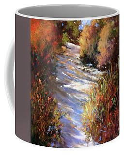 Embankment And Shadows Coffee Mug by Rae Andrews