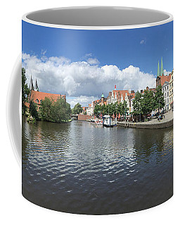 Embankment Of Trave In Luebeck Coffee Mug
