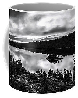 Emerald Bay Rays Black And White By Brad Scott Coffee Mug