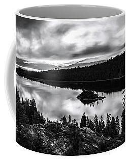 Emerald Bay Rays Black And White By Brad Scott Coffee Mug