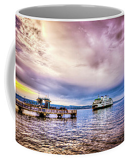 Coffee Mug featuring the photograph Emerald City Ferry by Spencer McDonald