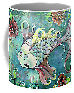 Emerald Koi Coffee Mug