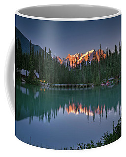 Coffee Mug featuring the photograph Emerald Lake At Sunrise Hour by William Lee
