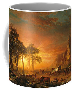 Coffee Mug featuring the photograph Emigrants Crossing The Plains - 1867 by Albert Bierstadt