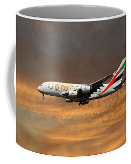 Emirates Airbus A380-861 3 Coffee Mug