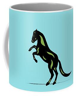 Emma - Pop Art Horse - Black, Greenery, Island Paradise Blue Coffee Mug