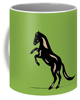 Emma - Pop Art Horse - Black, Hazelnut, Greenery Coffee Mug