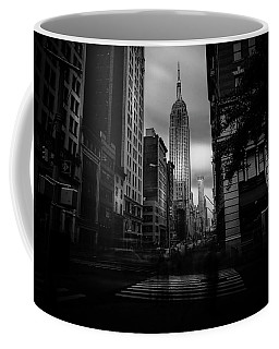 Coffee Mug featuring the photograph Empire State Building Bw by Marvin Spates