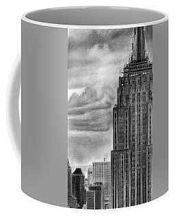 Empire State Building New York Pencil Drawing Coffee Mug
