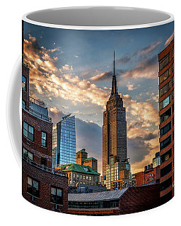 Empire State Building Sunset Rooftop Coffee Mug