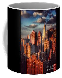 Empire State In Gold Coffee Mug by Miriam Danar