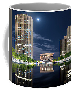 Coffee Mug featuring the photograph Empire State Plaza by Brad Wenskoski