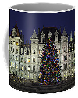 Coffee Mug featuring the photograph Empire State Plaza Holiday by Brad Wenskoski