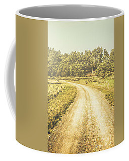 Empty Curved Gravel Road In Tasmania, Australia Coffee Mug