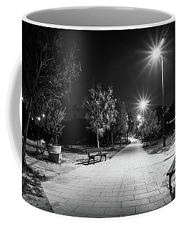 Empty Park Benches. Coffee Mug