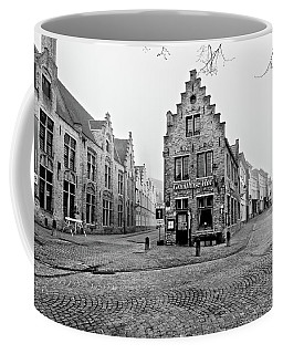 Empty Streets In Bruges On A Misty Morning Coffee Mug