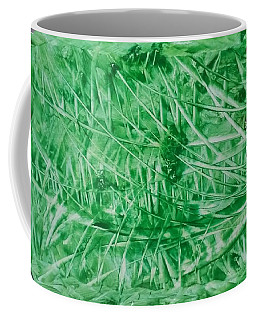 Encaustic Abstract Green Foliage Coffee Mug