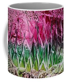 Encaustic Abstract Pinks Greens Coffee Mug