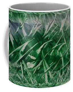 Encaustic Green Foliage With Some Blue Coffee Mug