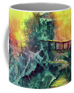 Coffee Mug featuring the painting Enchanted Bridge by Allison Ashton