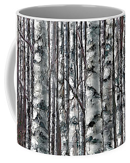 Enchanted Forest -black And White Coffee Mug