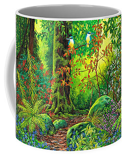 Coffee Mug featuring the painting Enchanted Forest by Val Stokes
