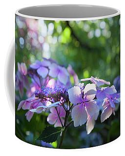 Coffee Mug featuring the photograph Enchanted Hydrangea by Theresa Tahara