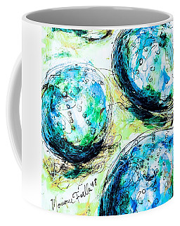 Coffee Mug featuring the painting Enchanthing Sea Urchins by Monique Faella