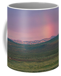 Coffee Mug featuring the photograph End Of Rainbow by Hitendra SINKAR