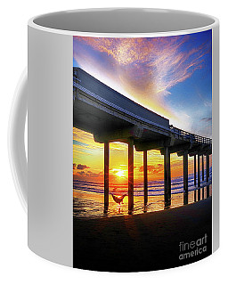 End Of The Day, Scripps  Pier, California Coffee Mug