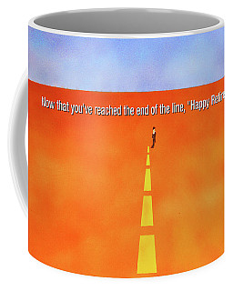 End Of The Line Greeting Card Coffee Mug