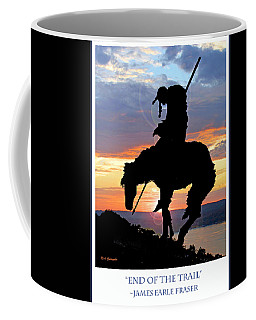 End Of The Trail Sculpture In A Sunset Coffee Mug