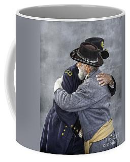 Enemies No Longer Civil War Grant And Lee Coffee Mug by Randy Steele