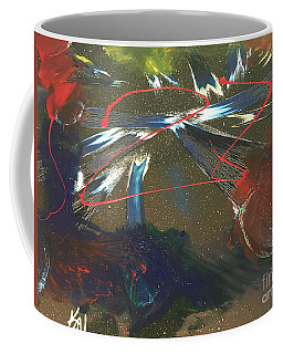 Coffee Mug featuring the painting Energy by Karen Nicholson