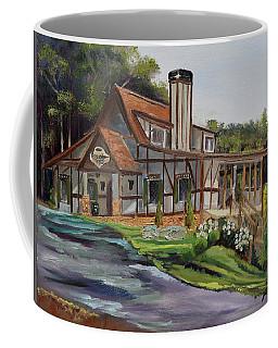 Coffee Mug featuring the painting Engelheim In The Morning - Vineyard - Ellijay, Ga by Jan Dappen