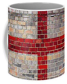 England Flag On A Brick Wall Coffee Mug