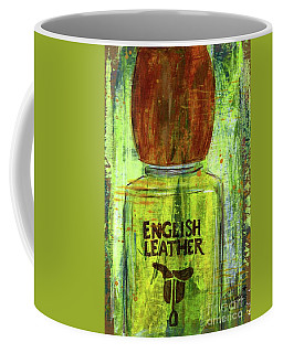 Coffee Mug featuring the painting English Leather by P J Lewis
