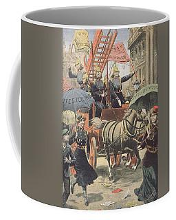 English Suffragettes Dressed As Firemen Coffee Mug