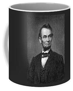 Engraving Of Portrait Of Abraham Lincoln From Brady Photograph Coffee Mug