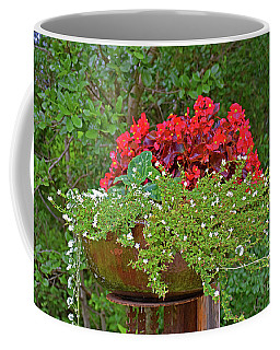 Enjoy The Garden Coffee Mug by Ray Shrewsberry