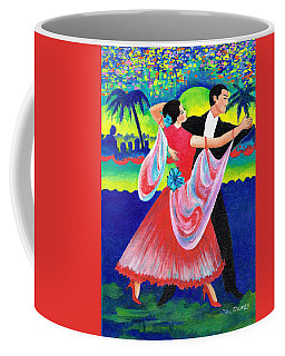 Coffee Mug featuring the painting Enjoyable Waltz by Val Stokes