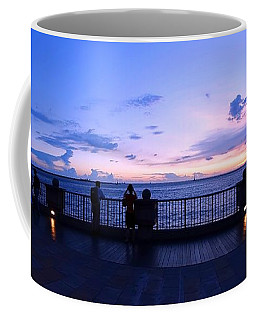 Coffee Mug featuring the photograph Enjoying The Beautiful Evening Sky by Yali Shi
