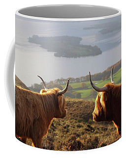 Enjoying The View - Highland Cattle Coffee Mug