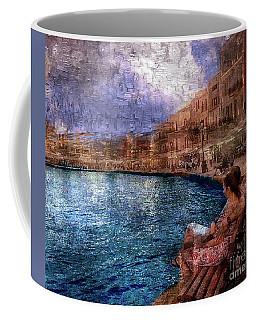Enjoying The View On The Beach At Nice, France. Coffee Mug