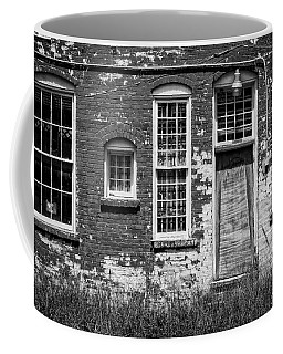 Coffee Mug featuring the photograph Enough Windows - Bw by Christopher Holmes