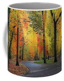 Coffee Mug featuring the photograph  Ensconced In Autumn by Jessica Jenney