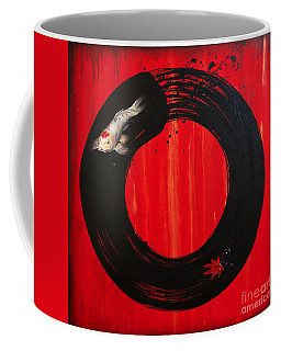 Enso With Koi Red And Gold Coffee Mug