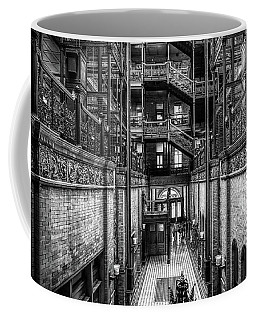 Coffee Mug featuring the photograph Entering The Bradbury B And W  by Michael Hope
